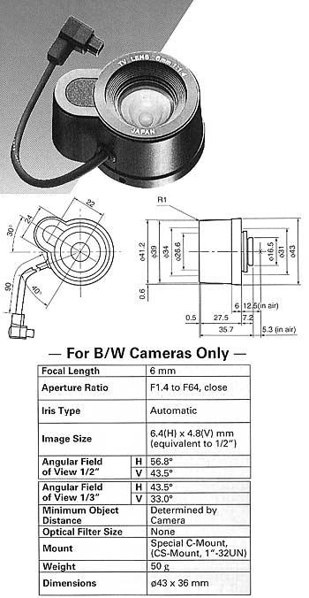 Panasonic WV-LA6B2AE